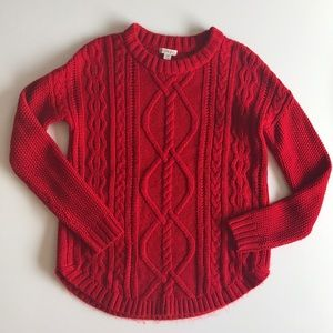 ➕Red Cable Knit!